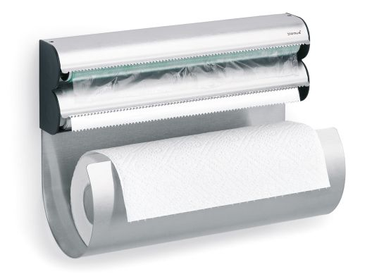Smartest thing ever! Paper towel, Saran Wrap & Foil!!! I think I need one! :)