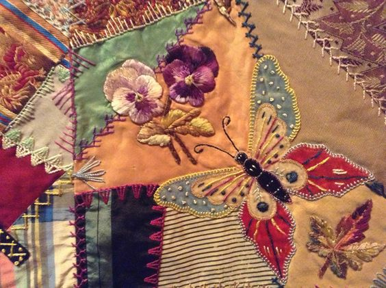 Elizabeth Parkhurst Williams Crazy Quilt 1884-90 Butterfly: