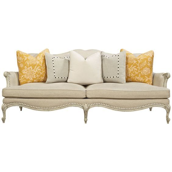 Caracole White Over Gray Sofa