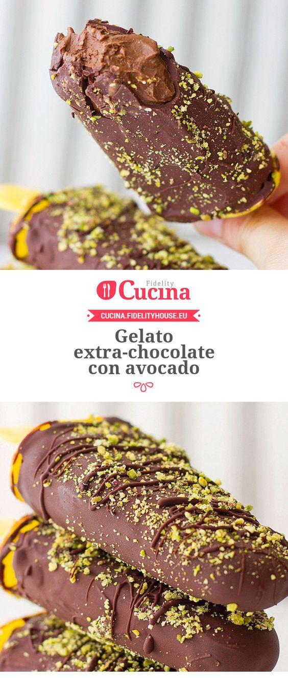 ✅ Buoni (con malto di riso, miele e latte di soia) Gelato extra-chocolate con avocado