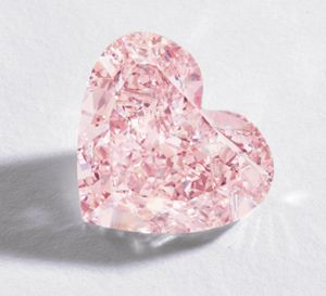 Natural Pink Diamond Heart.... OMG!  A PINK HEART SHAPED DIAMOND!  Now, if I can just slow my heart down to normal.
