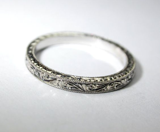 Hand Engraved Platinum Wedding Ring Band 2 By Konstantinkapirin 59500