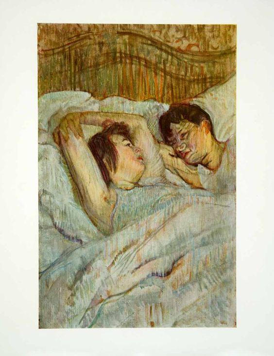 1931 Color Print Henri De Toulouse Lautrec Art In Bed Postimpressionis Art Toulouse Lautrec Colorful Prints