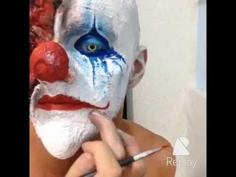 Maquiagem palhaço terror / Makeup clown horror - Victor Nogueira - YouTube