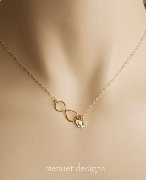 Collier or infini cadeau pour Coupls Eternity par MenuetDesigns