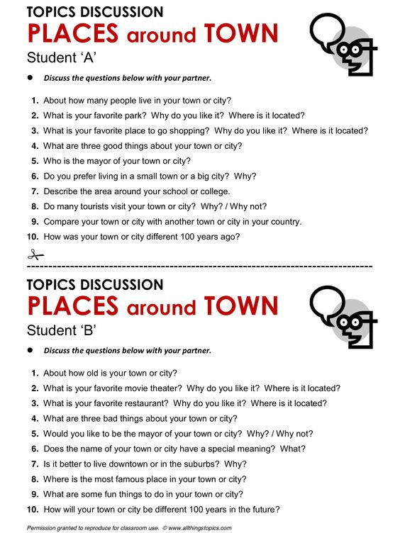 Places Around Town English Learning Vocabulary ESL Phrases Allthingstopics