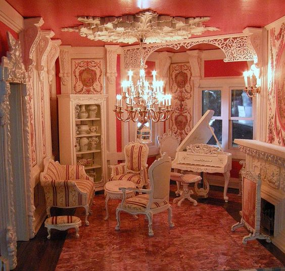 Best ideas about victorian dollhouses robin dollhouses for Beautiful sitting rooms