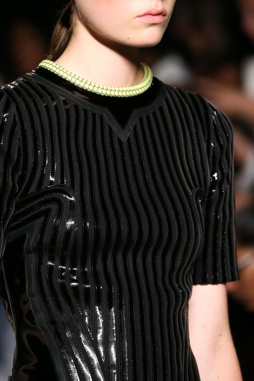 fashioninquality:  Detail at Alexander Wang Spring Summer 2015 | NYFW