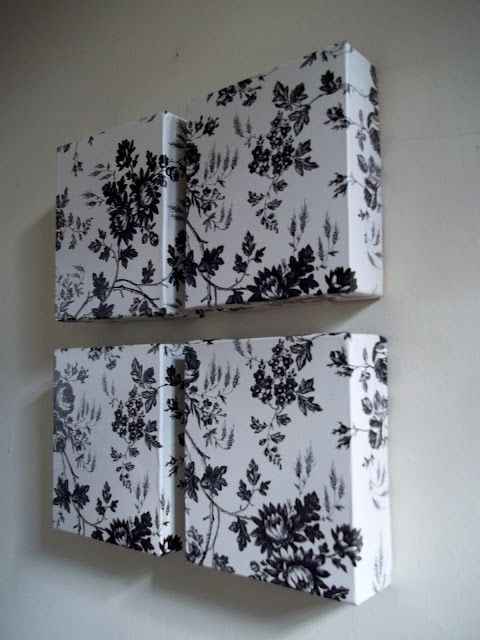 Dollar Tree contact paper  boxes = Wall Art by @annie_thom