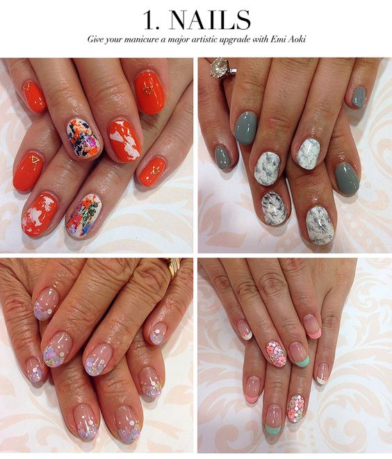 Ceci Johnson's Treat-Yourself Picks: 1. Nails - Give your manicure a major artistic upgrade with Emi Aoki #nail #art #japanese #nyc