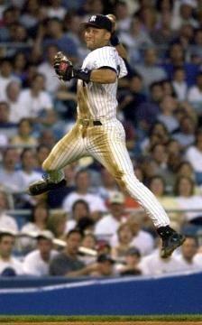 Derek Jeter. Love the jump throw !
