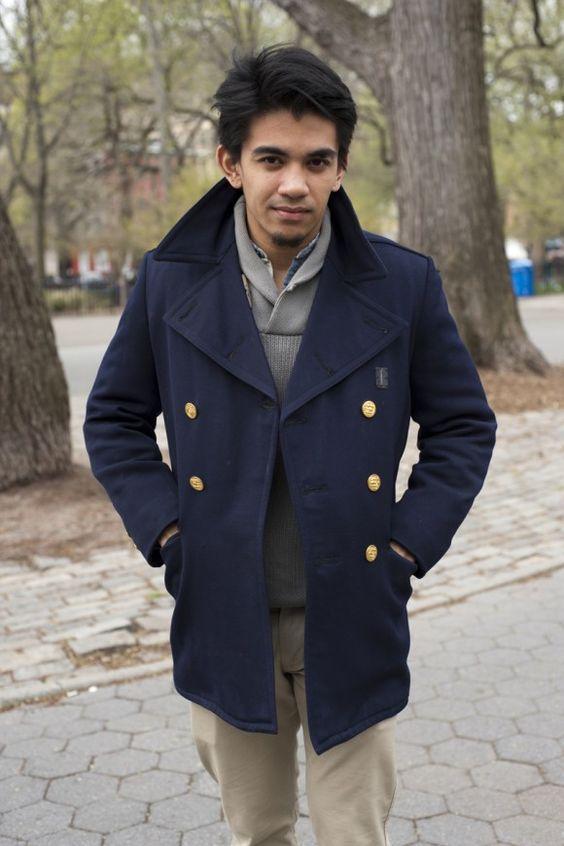 #military pea coat