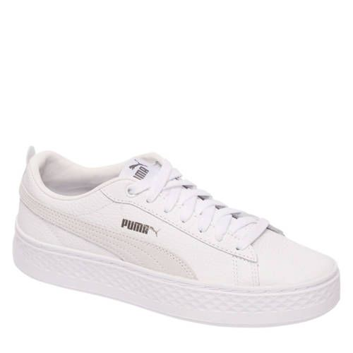 Puma Smash Platform sneakers wit - Nieuwe mode
