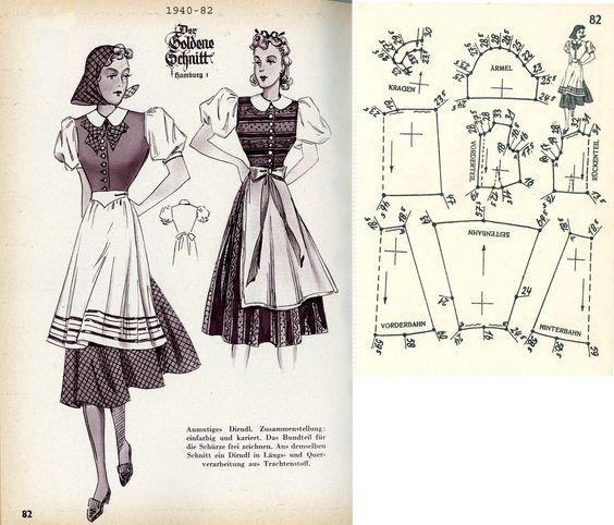 1940s (1940) German Women's Dirndl Lutterloh 1940-82