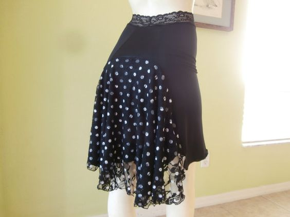 Argentine Tango Skirt Size fits 0 and 2  Milonga by COCOsDANCEWEAR