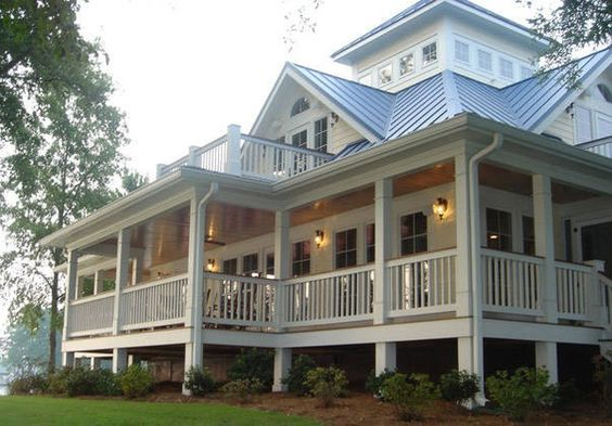 Lake House Dream Homes Great Porch Maisons De R Ve