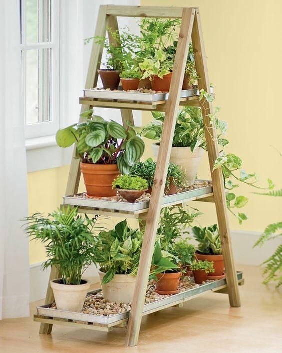 upcycling leiter holz regal haus wintergarten klein winter garden pinterest haus pelz und. Black Bedroom Furniture Sets. Home Design Ideas
