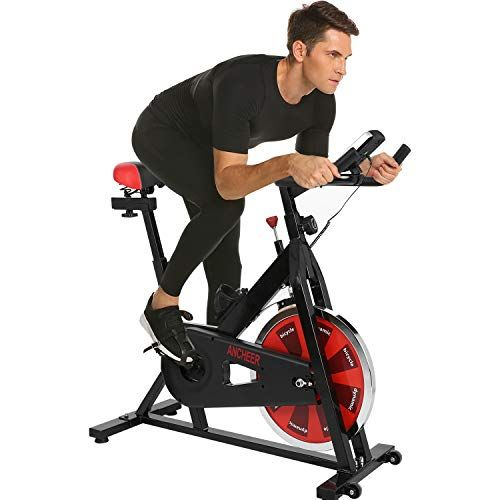 Ancheer Stationary Bike Belt Drive Indoor Cycling Exercise Bike