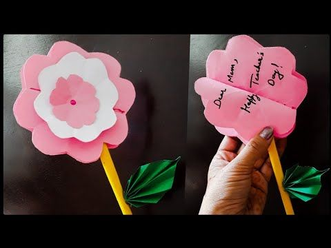 Youtube Flower Cards Greeting Cards Diy Teachers Day Greeting Card