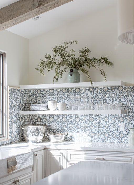 Walker Zanger Duquesa Decorative Tile Backsplash Country Cottage