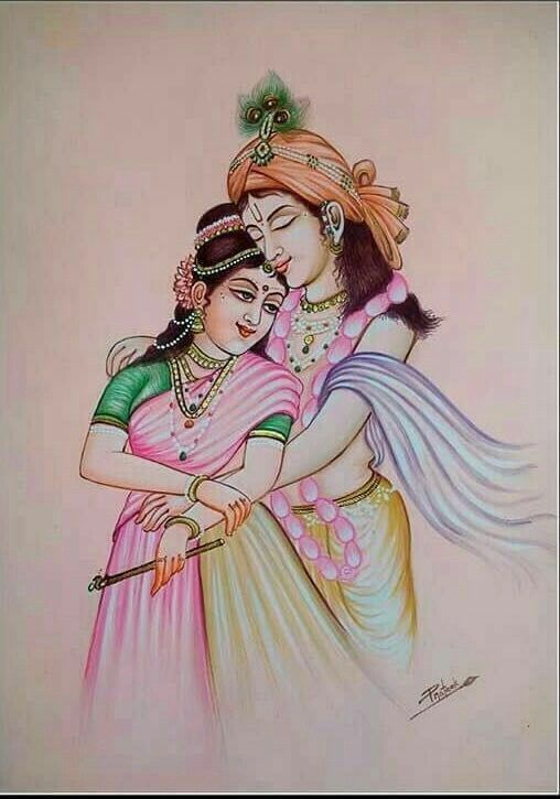Romance Cartoon Radha Krishna Images