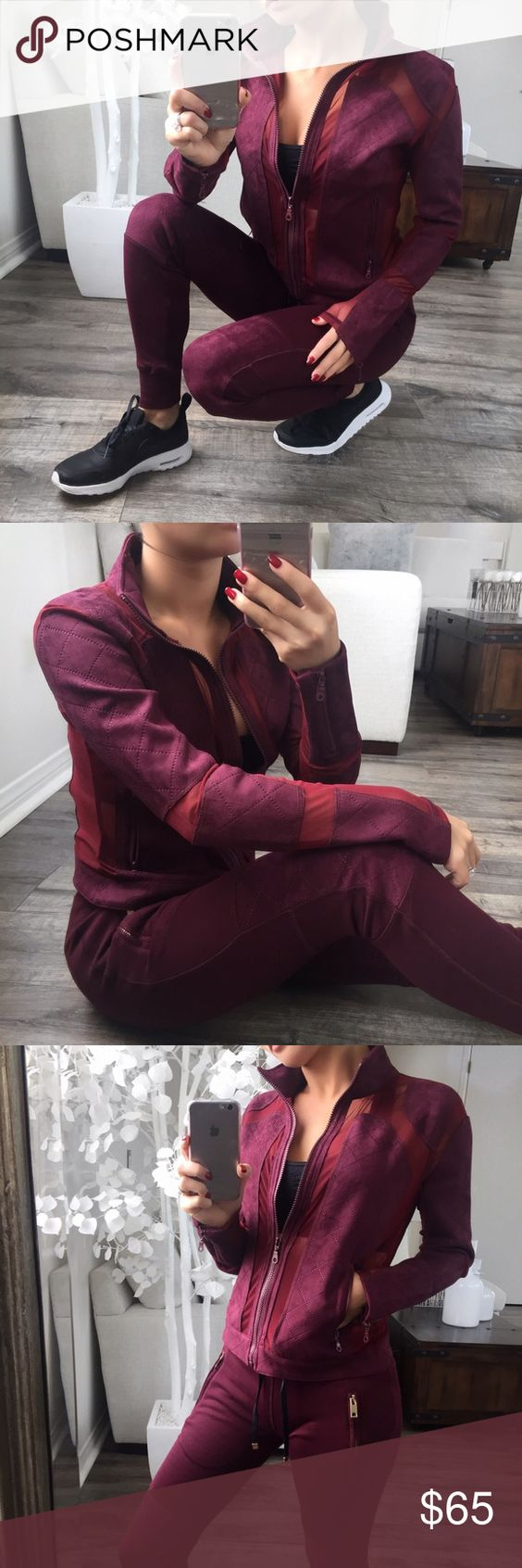 """OUT OF STOCK RESTOCKED! I wear track suits 80% of the time when I run errands. This is the perfect mix of stylish & casual. Suede patching & mesh panels. Very breathable also great for working out without overheating. Pair this with the matching bottoms & your favorite pair of sneakers. (Made for my stylish upscale ladies!)  Modeling: XS Material: Cotton (M): 19""""Pit to Pit 21""""Length Fit: Runs larger. Relaxed, 1 Inch difference in between sizes.   WILL NOT BE RESTOCKED SO PLEASE DO NOT ASK…"""