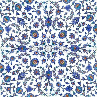 Carta da parati antiche piastrelle turche - dettaglio • PIXERS.it