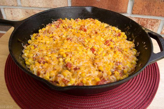 Spicy Corn & Rice Skillet