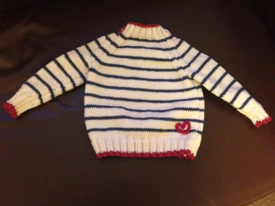 6 month old jumper with cable stitch heart