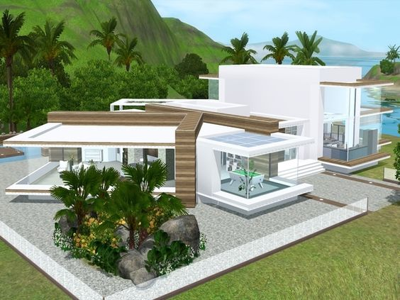 Modern View house by Suzz86 - Sims 3 Downloads CC Caboodle | Sims ...