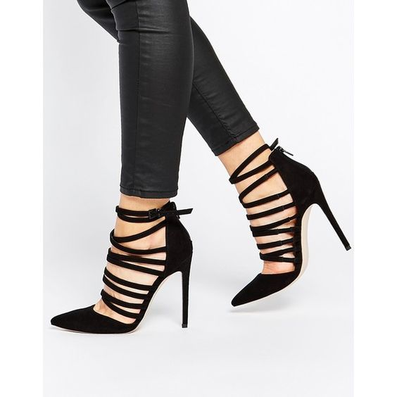 ASOS PROMOTE Pointed High Heels ($69) ❤ liked on Polyvore