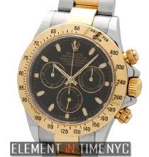 #Rolex Daytona 116523 Stainless Steel / 18 Karat Yellow Gold Black Dial ($11,795.00)