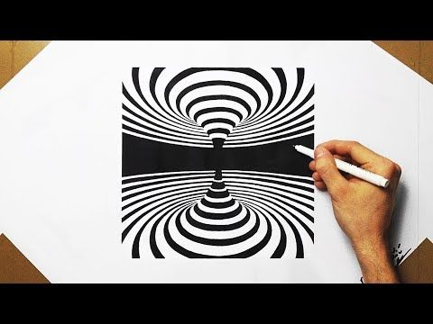 3d Spiral Optical Illusion Speed Drawing How To Draw