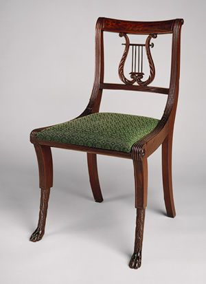 duncan phyfe side chair early phyfe immigrated from scotland and blended english neoclassical and regency styles supplying furniture to the wealthy furniture in style