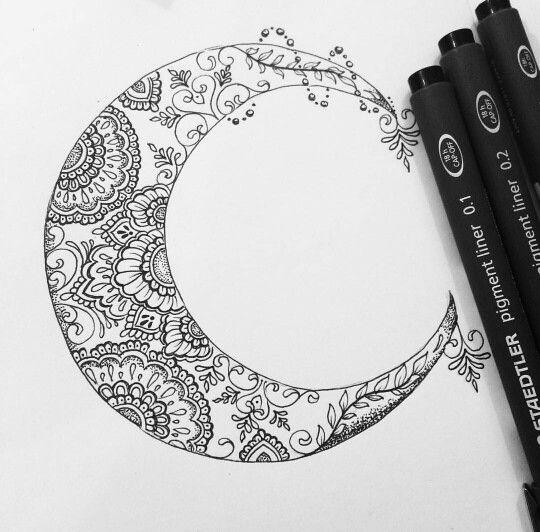 Moon tattoo design by Olivia Fayne