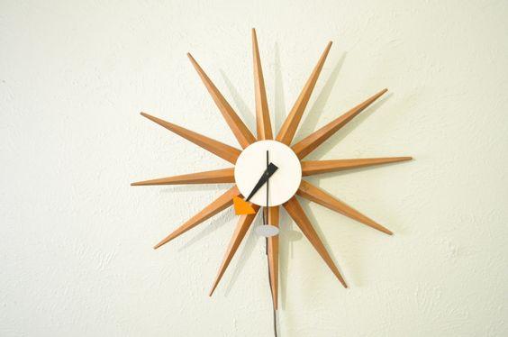 George Nelson / Howard Miller Spike burst clock