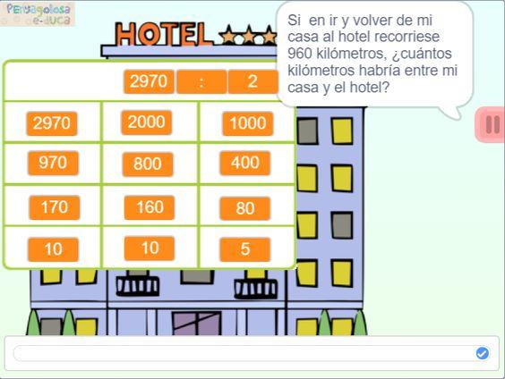 Problemas en el hotel (4 dígitos : 1 dígito)