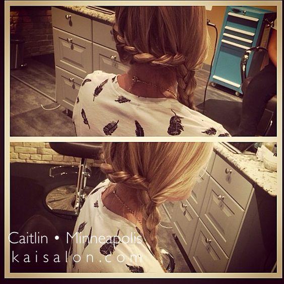 #braids #simplebraid #blonde #hair #minneapolishair #northloop #nolo #kaisalonmn #aveda #themoment
