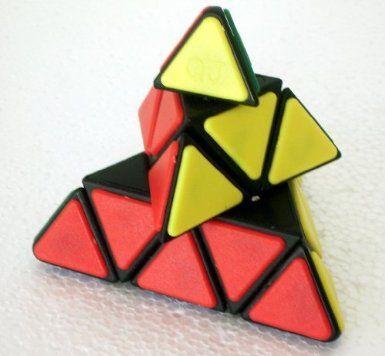 QJ Pyraminx Tile Puzzle Cube - Black by QJ $6.98