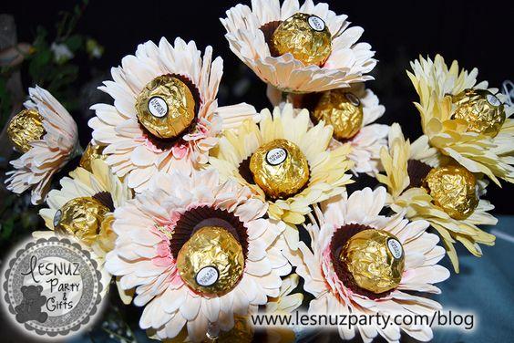 Flores de bombones - Chocolate flowers