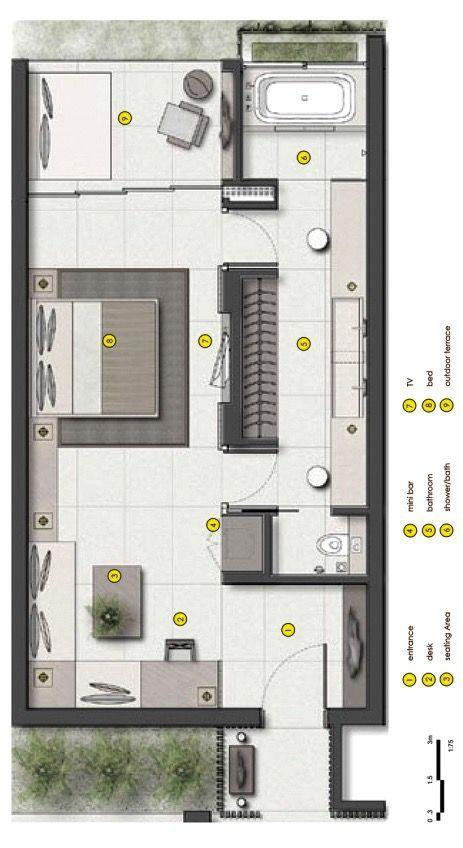 Urbnarc Pte Ltd Alila Seminyak Bali Hotel Floor Plan Hotel Room Plan Hotel Room Design