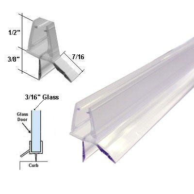 This Drip Rail is designed for a frame-less shower door, snaps ...