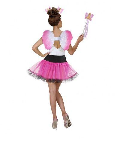 Per un addio al nubilato da vere...monelle! Questo kit per travestimento da fata maliziosa per adulto include un cerchietto per capelli, una bacchetta e un paio d'ali di colore rosa, decorati con applicazioni a forma di attributo maschile. Indossando questi accessori la vostra festa di addio al nubilato sarà memorabile!