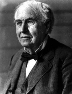 Thomas Alva Edison, inventor of many things that made life better...the incandescent light bulb, the phonograph any a myriad of other things.