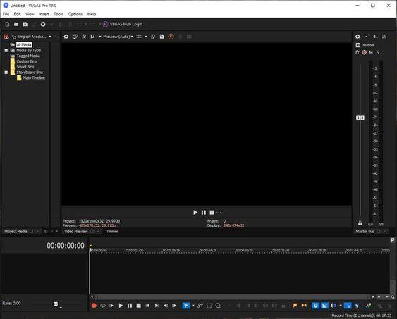 MAGIX VEGAS Pro 19 Screenshot
