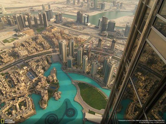 Dubai ::  seen from the Burj Khalifa, the world's tallest building.