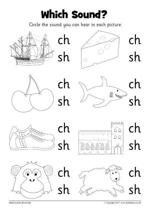 Which Sound Worksheets Ch And Sh Sb12216 Sparklebox Homeschool Worksheets Homeschool Kindergarten Kindergarten Learning