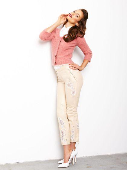 Lambskin Lazercut Lace Pants by Nina Ricci on Gilt