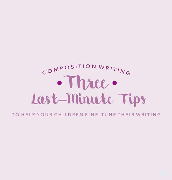 I have decided to do this post to provide some last-minute tips for  composition writing. For situational writing, we have touched on some  common Q&Aand the step-by-step procedurein the previous posts. The  following 3 tips for composition writing were chosen not because they will  deliver any sort of miracle or help your child bump up 10 marks instantly.  Bearing in mind that compositions are marked holistically and every mark  counts,I feel that the tips below are possible for…