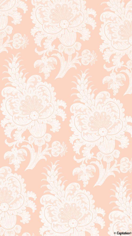 Pink/very light peach paisley wallpaper Cuptakes